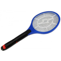 Raquete Elétrica Recarregável Bi-volt Mata Mosquitos, Moscas