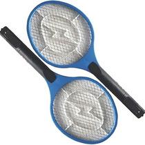 2 Raquete Elétrica Recarregável Bi-volt Mata Mosquito Moscas