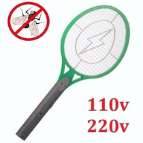 Raquete Mata Mosca Mosquito Pernilongo Recarregável