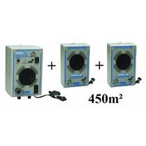 Espanta Rato Eletrônico 450m² Zebu Ermu 1/5 + 2 Emissor Extr