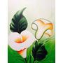 Pintura Em Tela Quadro Copo De Leite Painel 60x80cm