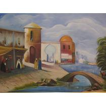 Pintura Em Tela Tinta Óleo Quadros Decoração Tema Árabe