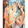 Quadro Les Demoiselles D`avignon Releitura De Pablo Picasso