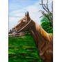 Quadro Cavalo Cachorro Galinha - Óleo Sobre Tela - Granito A