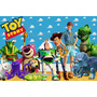 Toy Story Painel , Lona Fosca, Banner, Festa, Mdf