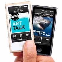 Ipod Nano 16gb Apple 7ª Geração 16gb C/ Novos Earphones, Box