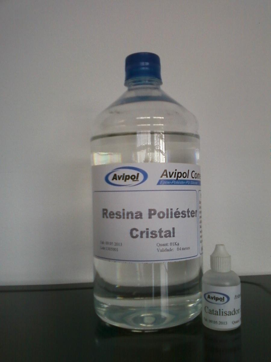 Resina de poli ster cristal r 25 00 no mercadolivre for Arcones de resina para exterior