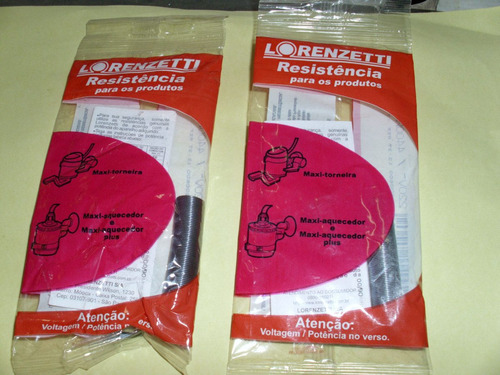 Resistência Lorenzetti Maxi Aquecedor 220 X 4400w - Kit C/ 2