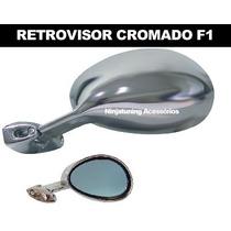Retrovisor Cromado Modelo F1 Universal Fusca Opala Chevete