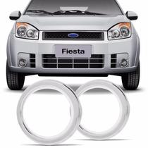 Aplique Cromado Fiesta 08 Até 11 Kit Com 08 Peças