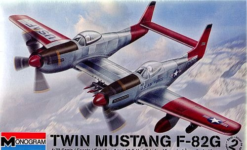 Revell-avião Twin Mustang F-82g