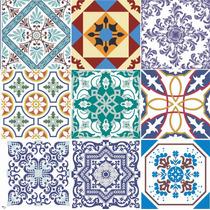 Adesivo Pastilha Azulejo Ladrilho Hidráulico Ou Parede 20cm