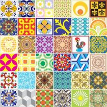 Adesivo Azulejo Português - 36 Peças - 15x15 Cm