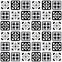 Adesivo Azulejo Manresa Preto E Branco - 20x20cm 25 Unidades