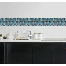Faixa Decorativa Border Pastilhas Cozinha Banheiro Adesivo