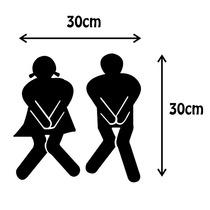 Adesivo Banheiro Porta Apertados - 30cmx30cm | Think Vinil
