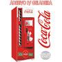 Kit Adesivo Envelopamento Skin Geladeira Máquina Coca-cola