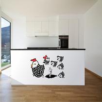 Adesivo Decorativo Cozinha Papel Parede Galinha E Pintinhos