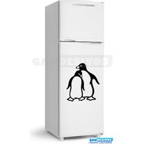 Adesivo Decorativo De Parede/geladeira 2 Pinguins