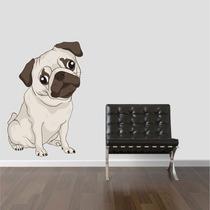 Adesivo Parede Geladeira Animais Cachorro Raça Pug Brindesi9