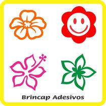 Adesivo Decorativo Geladeira Box Vidro 50 Flores 2 Cores An2