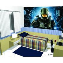 Papel De Parede Adesivo Decoração Painel Games Halo 5m2