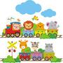 Adesivo Decora Parede Infantil Quarto Bebê Árvore Zoo Rln123