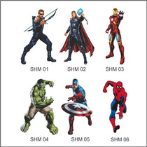 Adesivo Decorativo De Parede Super Herois Adultos