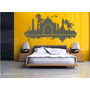Adesivo Decorativo Parede Quarto Taj Mahal Skyline Castelo
