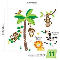 Adesivo De Parede Infantil Quarto Bebê Árvore Zoo 011
