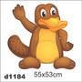 Adesivo D1184 Ornitorrinco Carton Decorativo Infantil Quarto