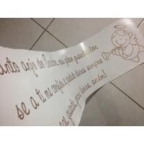 Adesivo Decorativo Parede Oração Santo Anjo - 1,80m X 46cm