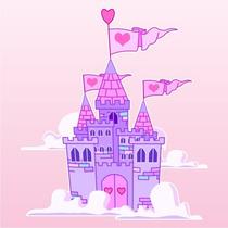Adesivo Decorativo Parede Castelo Princesas - Frete Grátis!!