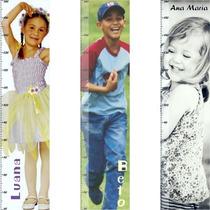 Adesivo Régua Do Crescimento Com A Foto E Nome Da Criança