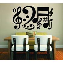 Adesivo Decorativo Parede Quarto Música Notas Musicais