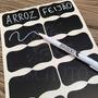 10 Etiquetas Adesiva Lousa Quadro Negro + Caneta Giz Líquido