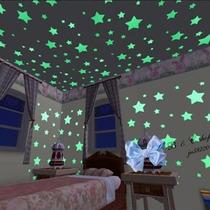 100 Estrelas Fluorescentes De Plástico - Brilha No Escuro