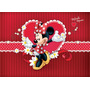 Painel Infantil Decorativo Lona Minnie Mouse 2,40 M X 1,30 M