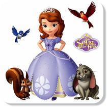 03 Adesivo Infantil Princesa Sofia The First Princesinha