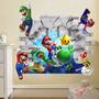 Adesivos Decorativos Super Mario Bross 3d **pronta Entrega**