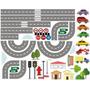 Adesivo Parede Decorativo Cidade Pista Carros - Frete Grátis