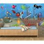 Adesivo Pirata Fundo Do Mar Peixes Infantil Painel Mod09