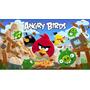 Papel De Parede Auto Adesivo Vinil Infantil Angry Birds 6m2
