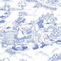 Tecido Adesivo Campo Azul
