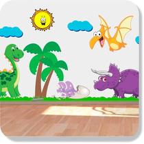 Adesivo Quarto Infantil Ou Bebê Dinossauro Safari Parede