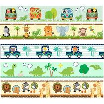 Faixa Border Decorativa Infantil Zoo Safari Quarto Bebê