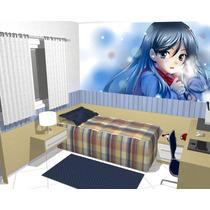 Papel De Parede Adesivo Decoração Manga Anime Desenho 3m2