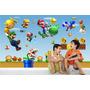 Adesivo Papel Parede Painel Infantil Cenário Mario Bros M02