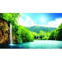 Papel De Parede Autoadesivo Cachoeira Paisagem Natureza 5m2