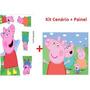 Cenario De Chão E Mesa Mdf 3mm + Painel 2.00x1.00 Peppa Pig